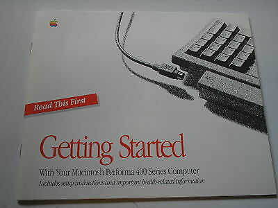 Vintage computing Getting Started with Your Macintosh Performa 400  used 12061-4