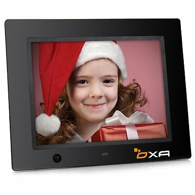 OXA 8-Inch 16G HD Digital Photo Frame with Built-in Storage Motion Sensor New.