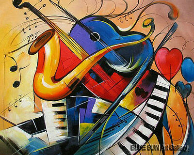 Modern oil painting on Canvas Wall Art room Music dance painting abstract ABD111
