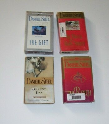 4--AUDIO BOOKS-Danielle Steel ON CASSETTE tapes Used See Details