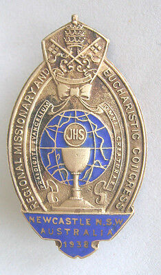 Enamel and Brass REGIONAL MISSIONARY AND EUCHARISTIC CONGRESS Badge Vintage