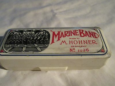 M. HONER NO. 1896/20 C MARINE BAND HARMONICA with ORIGINAL CASE