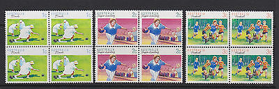 Australia 1989 : Sport, Series 1, 3 Block of 4 Stamps, MNH