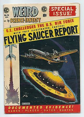 Weird Science Fantasy 26 VG+ Fine- solid copy EC Comics 1954 Flying Saucer issue