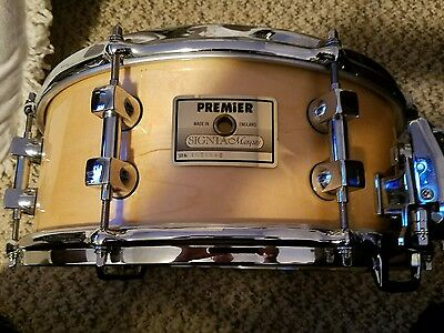 "PREMIER SIGNIA MARQUIS maple snare drum 5.5""x14"":TOUGH TO FIND! $$"