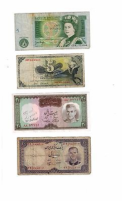 FA-BN0026- Lot of 4 mix World bank notes  choice fine- extremely fine