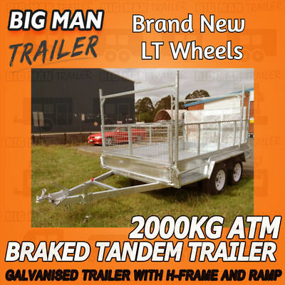 10x5 H-Frame Ramp Dual Axle Box Trailers Hot Dipped Galvanized Heavy Duty Welded