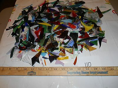 3 pounds stained glass scrap pieces #110