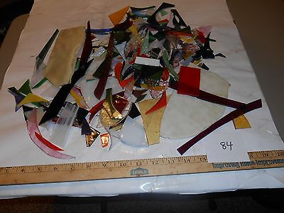 3 pounds stained glass scrap pieces #84