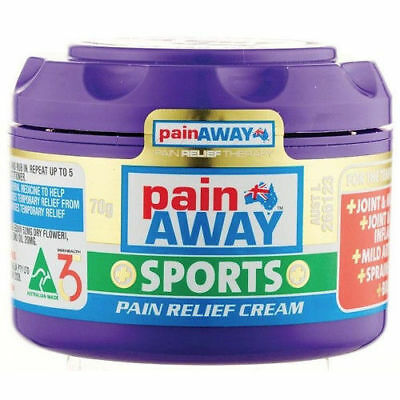 Pain Away Sports Relief Cream 70G Joints & Muscular Pain Inflammation Bruising