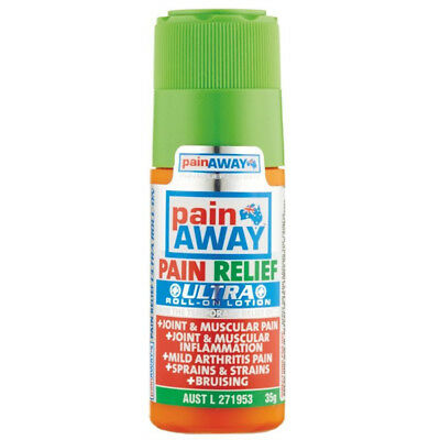 Pain Away Ultra Roll On Lotion Pain Relief 35G Joint Muscular Arthritis Sprains