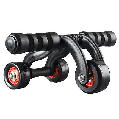 3-Wheel Fitness Ab Roller Workout Muscle Abdominal Abs Pro Gym Stable Exerciser