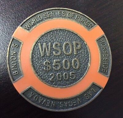 RARE 500 $ Wsop 2005 Brass Poker Chips / Card Guard ball marker SEE MY OTHERS