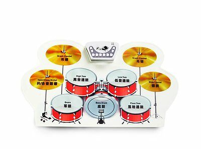 Konix W1008M Easy To Carry Roll Up Drum With Midi Function As Gift For Child