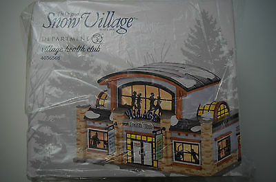 Dept 56 Snow Village 4036568 Health Club 2014 D56 NIB Department sealed retired