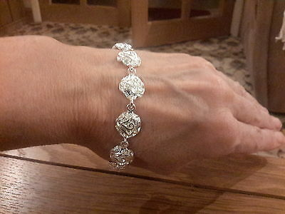 Brand new Silver plated 925 stamped  Bracelet Amazing style  with gift box