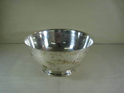 Beautiful Silver Plated Paul Revere Bowl Reproduction By Oneida Community Ltd.