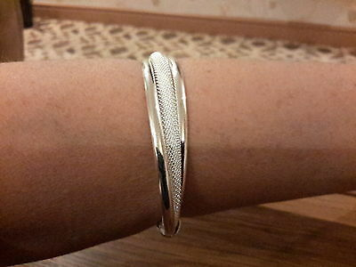 Brand new 925 stamped cuff bangle with gift box