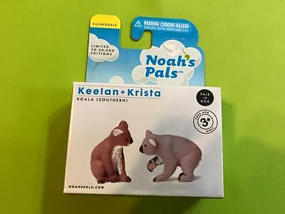 Retired NOAH'S PALS KOALA (SOUTHERN)  Animal PVC figurine figure pair RARE