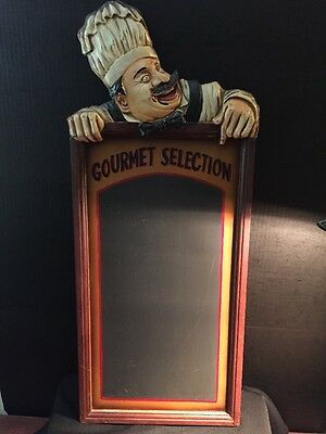 Chef Bakery Gourmet Chalk Board Restaurant Kitchen Bar Wall Decor