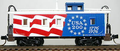 N Scale Micro Trains 34' Wood-Sheathed Caboose with Slant Sided Cupola