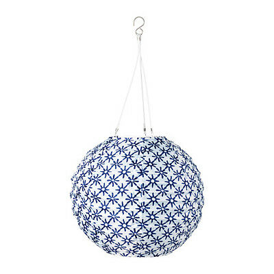 IKEA Solvinden white,blue Solar Powered outdoor light globe 12""