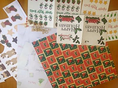 Christmas Themed Scrapbooking Paper, Stickers and Other