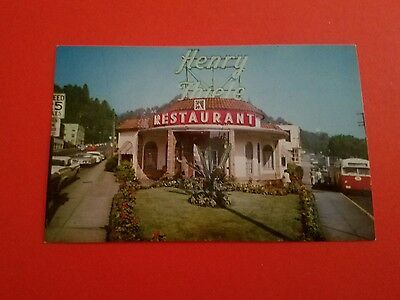 Oregon, Portland. Henry Thiele's Restaurant Vintage postcard, Chrome.