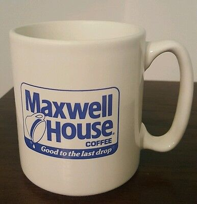 Vintage Pflatzgraff Maxwell House Coffee Cup Mug Blue Label Made in the USA
