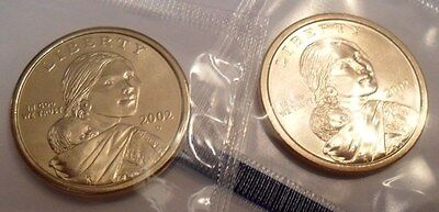 2002 P & D Sacagawea Dollar Coin Set (2 Coins) *MINT CELLO*  **FREE SHIPPING**