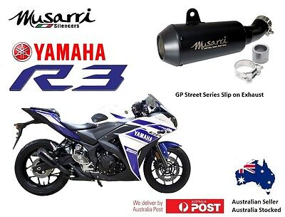 Yamaha YZFR3  R3  2015-2016-2017 Musarri Slip-on GP Exhaust Muffler Pipe BLACK