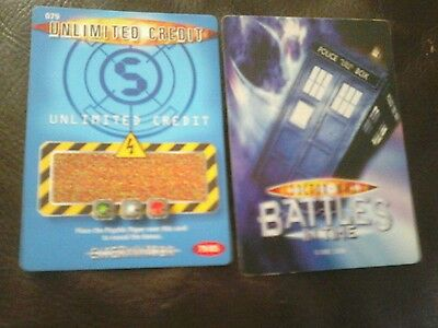 Dr who battles in time test cards number 79 unlimited credit