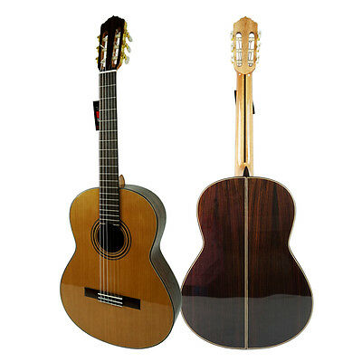 Handmade Vintage Spanish Nylon String Classical Guitar With Free Case
