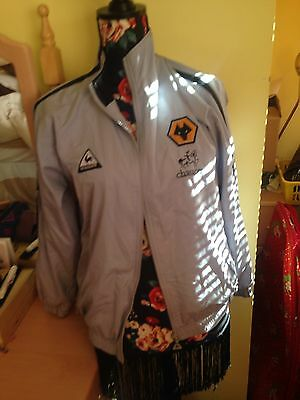 Vintage/ Retro wolverhampton wanderers Chaucer tracksuit top age 15