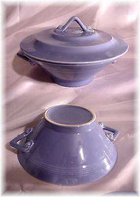 Vintage Homer Laughlin Harlequin Mauve Blue Casserole Covered Vegetable Fiesta !