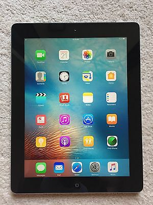 Apple iPad 4th Generation 16GB Wi-Fi + 4G 9.7in Tablet Black Mint Condition