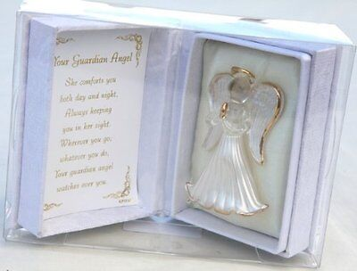 Guardian Glass  Angel Gift Memory Keepsake  Angel in Box and inside verse