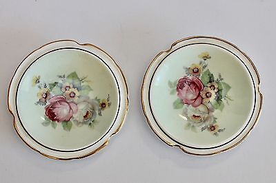 Vintage Paragon Floral Pin Dish / Butter Dish x 2 - Fine China - GVC