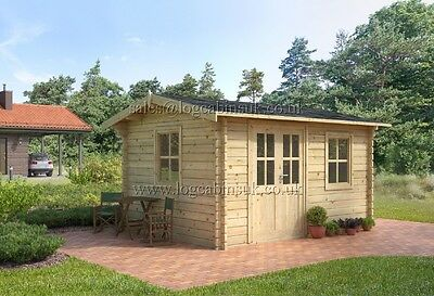 SALE !!  4 x 3 RUMUS Log Cabin 44 mm walls
