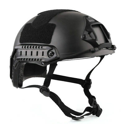 New Tactical Airsoft Style FAST Military/Bike Helmet w/ Protective Goggle Black