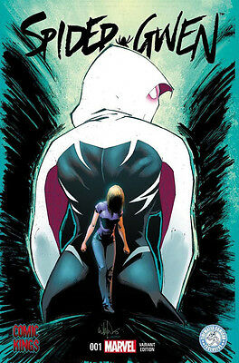 """Spider Gwen #1  Comic Kings Tidewater Comicon """"recalled Version"""" Variant"""