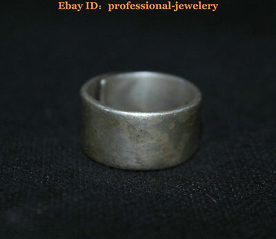 China Collect Old antique Guizhou Miao Silver Handmade Evil finger Silver Ring