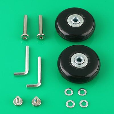 2 Set Luggage Suitcase Replacement Wheels Axles Deluxe Repair OD 55mm