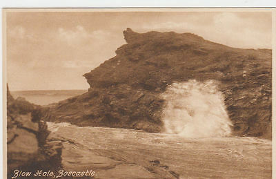 Vintage Frith's Postcard Blow Hole Boscastle Cornwall Unposted.