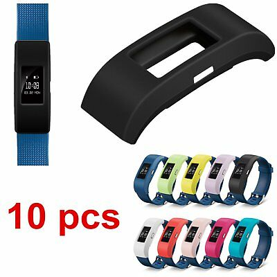 10* Silicone Band Case Sport Cover For Fitbit Charge 2 Tracker Watch Replacement