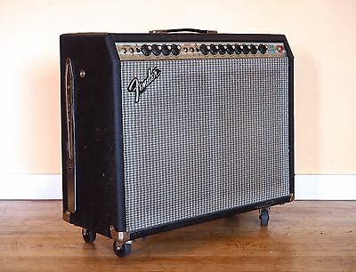 1980 Fender Twin Reverb Vintage Tube Amplifier Silverface 2x12 Celestion G12-80