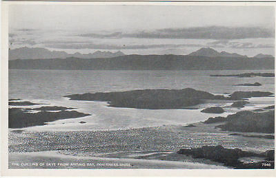 Vintage Postcard The Cuillins Of Skye From Arisaig Bay Inverness-Shire Scotland.