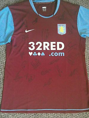 Signed Aston Villa Retro Shirt. Adults XL Brand New. Signed by 2015/16 Squad.