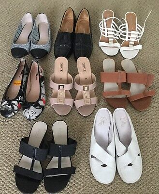 Bulk Lot Shoes Size 39 Mainly Leather Some New 8 Pairs