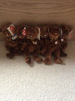 Set Of FIFA 2002 Ty World Cup Bears
